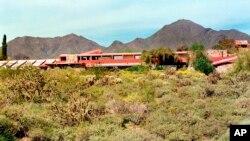 Taliesin West, Frank Lloyd Wright's winter home is seen in Scottsdale, Ariz.