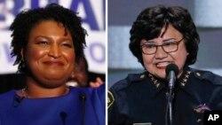 Candidatas demócratas para las gobernaciones de Georgia y Texas, Stacey Abrams y Lupe Valdez, respectivamente.