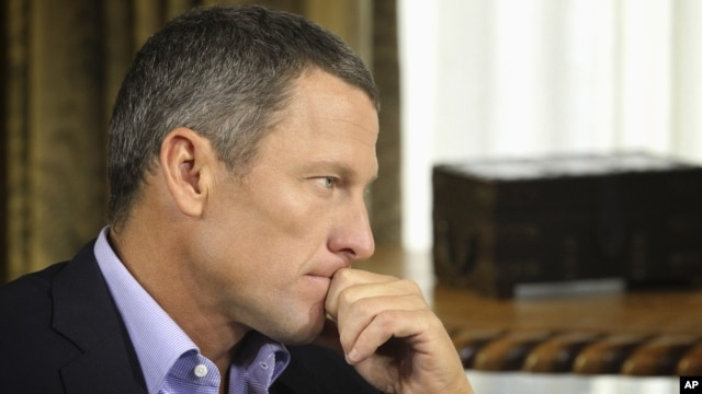 "In this January 14, 2013 photo provided by Harpo Studios Inc., cyclist Lance Armstrong listens to a question from Oprah Winfrey during taping for the show ""Oprah and Lance Armstrong: The Worldwide Exclusive"" in Austin, Texas."