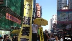 香港当局在旺角清场