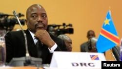 Presiden Republik Demokrasi Kongo Joseph Kabila dalam sebuah KTT di Kampala, Uganda.
