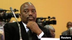 FILE - Opponents of DRC President Joseph Kabila have expressed concern that he wants to postpone next year's presidential vote in hopes of staying in office beyond his second term.
