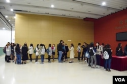 香港浸會大學舉辦獨立電影《十年》放映會,約400張門票全部售罄。(美國之音湯惠芸攝)