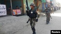 阿富汗安全部队抵达东部贾拉拉巴德市(2017年5月17日)