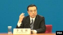 中国国务院总理李克强2015年3月13日在一次中外记者招待会上(资料,美国之音 东方拍摄)