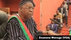 Salifou Diallo, président de l'Assemblée nationale au Burkina Faso, le 28 novembre 2016. (VOA/Zoumana Wonogo)