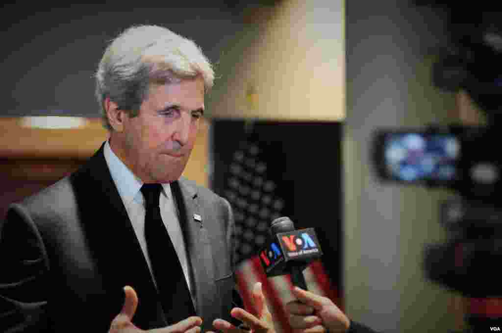 Secretary of State John Kerry interviews with VOA Thai.