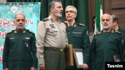 غلامعلی رشید، فرمانده قرارگاه خاتم-محمد باقری، رئیس ستادکل - عبدالرحیم موسوی،جانشین رئیس ستاد -علی عبداللهی، معاون