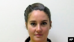 Shailene Woodley Arrest: This October 2016 photo provided by the Morton County Sheriff's Department in Mandan, N.D., shows actress Shailene Woodley who was arrested Monday, Oct. 10, 2016, during a protest against the Dakota Access pipeline.