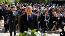 4月24日內塔尼亞胡在耶路撒冷的猶太人大屠殺紀念館舉行的紀念6百萬猶太人慘遭屠殺的大屠殺紀念日活動上發表了講話。