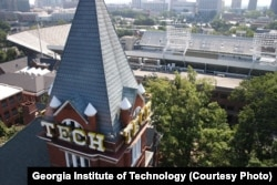 Georgia Tech Tower and campus of Georgia Institute of Technology, Atlanta, Georgia