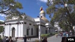 Edificio de la Asamblea Nacional de Venezuela, en Caracas. Foto de archivo.