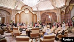 U.S. President Donald Trump meets with Gulf Cooperation Council leaders during their summit in Riyadh, May 21, 2017.