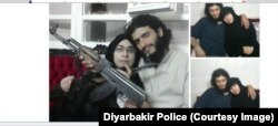Turkish police released these photos of Afra Shaar, the Syrian woman accused of being an IS recruit, with her late husband Faysal Selimoglu.