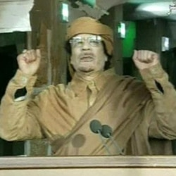 Moammar Gadhafi on national television Tuesday