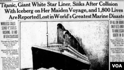 Newspaper report on the Titanic.
