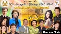 Poster quảng cáo cho Đại nhạc hội Tri Ân Thương Phế Binh Quân Lực Việt Nam Cộng Hòa tại thành phố Sydney, Australia.
