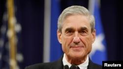 រូបឯកសារ៖ លោក Robert Mueller អតីតនាយក FBI ក្នុងពេលលោកថ្លែងសុន្ទរកថានៅក្រសួងយុត្តិធម៌ក្នុងរដ្ឋធានីវ៉ាស៊ីនតោន។