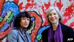 Fransız araştırmacı Emmanuelle Charpentier (solda) Amerikalı biyokimya uzmanı Jennifer Doudna (sağda)