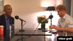 Принц Гаррі бере інтерв'ю в Барака Обами у Торонто, Канада для ранкового радіошоу BBC