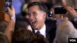 El triunfo de Romney en las primarias de Illinois le dio un gran impulso a su campaña.