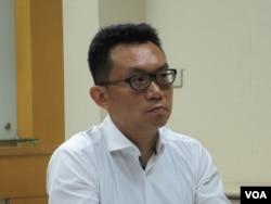 兩岸政策協會秘書長王智盛(美國之音張永泰拍攝)