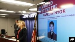 Pwokirè Tracy Wilkison kap anonse akizasyon kriminèl kont yon pirat entènèt Kore di Nò. (Foto: 6 septanm 2018. AP/Reed Saxon)