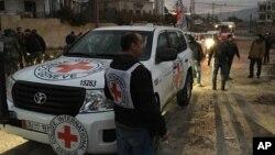 Le Comité international de la Croix-Rouge (CICR) en janvier 2016.