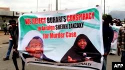 Des chiites nigerians dans la rue le 14 mai 2018 à Abuja pour reclamer la libération de leur leader Ibrahim Zakzaky.