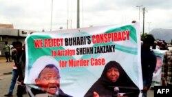 Les partisans réclament la libération du religieux musulman chiite nigérian Ibrahim Zakzaky, le 14 mai 2018.
