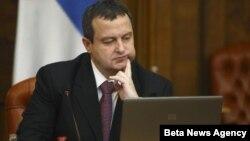 Premijer Srbije Ivica Dačić uoči sednice Vlade
