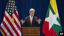 美国国务卿克里8月9日在东盟外长会议上发言