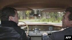 Kaliforniya ştatının qubernatoru Arnold Şvarsenegger Rusiya prezidenti Dmitri Medvedevlə görüşüb