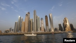 A general view of Dubai Marina, in Dubai, United Arab Emirates, May 23, 2015.