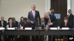Obama se reunió en la Casa Blanca con el Consejo de Exportaciones presidencial.