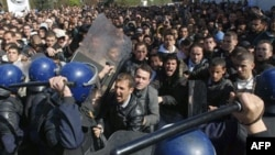 Cezayir'de dört gün önceki gösteriler