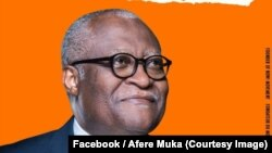 Akere Muna, candidat à la présidentielle s'est désisté et rallié à Maurice Kamto, un autre candidat de l'opposition (non visible sur la photo) pour le scrutin du 7 octobre contre le président sortant Paul Biya, au Cameroun ; ici, sur une photo publiée le 9 septembre 2018. (Facebook/Afere Muka)