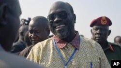 Ramadan Hassan Lako, pemimpin delegasi pemberontak Sudan Selatan tiba di ibukota Juba, Senin (21/12).