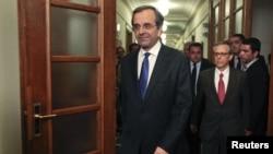 希腊新总理萨马拉斯6月21日在雅典