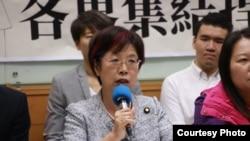民進黨籍立法委員尤美女(台灣人權促進會提供)