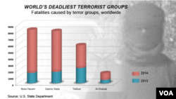 Deadliest terror groups, worldwide