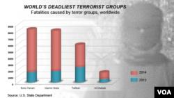 Deadliest terror groups, worldwide