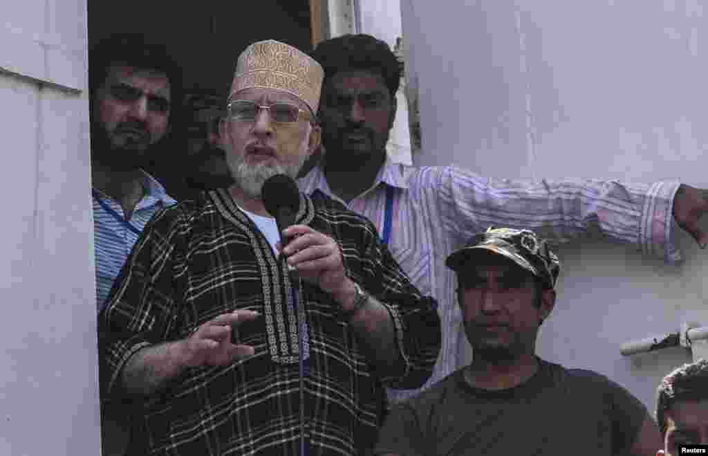 عوامی تحریک کے قائد طاہر القادری نے حکومت کے خلاف پیش قدمی جاری رکھنے کا اعلان کیا ہے۔
