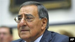Defense Secretary Leon Panetta, on Capitol Hill in Washington, October 13, 2011.