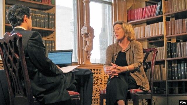 FILE - Former Ambassador Kathleen Stephens interviewed by VOA's Sungwon Baik, July 12, 2012.