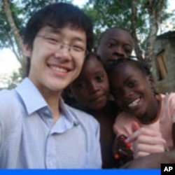 Evan Choi during mission in Haiti