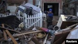 Solo escombros a lo largo de la costa este de los EE.UU. luego del huracán 'Sandy'.