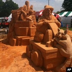 A sand sculpture at Merlefest 2010