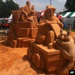 A sand sculpture at Merlefest 2010