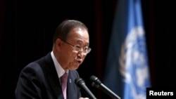 عکس آرشیوی از بان کی مون دبیر کل سازمان ملل متحد
